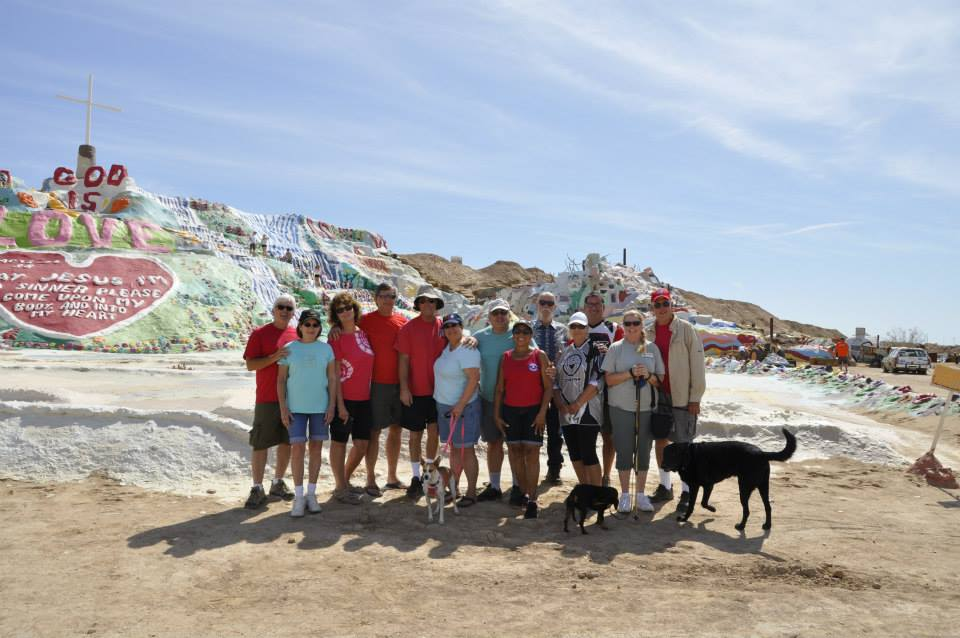 SD4W's & guests enjoy a day at Salvation Mountain by the Salton Sea.